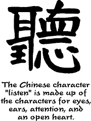 "Chinese character for ""listen"""